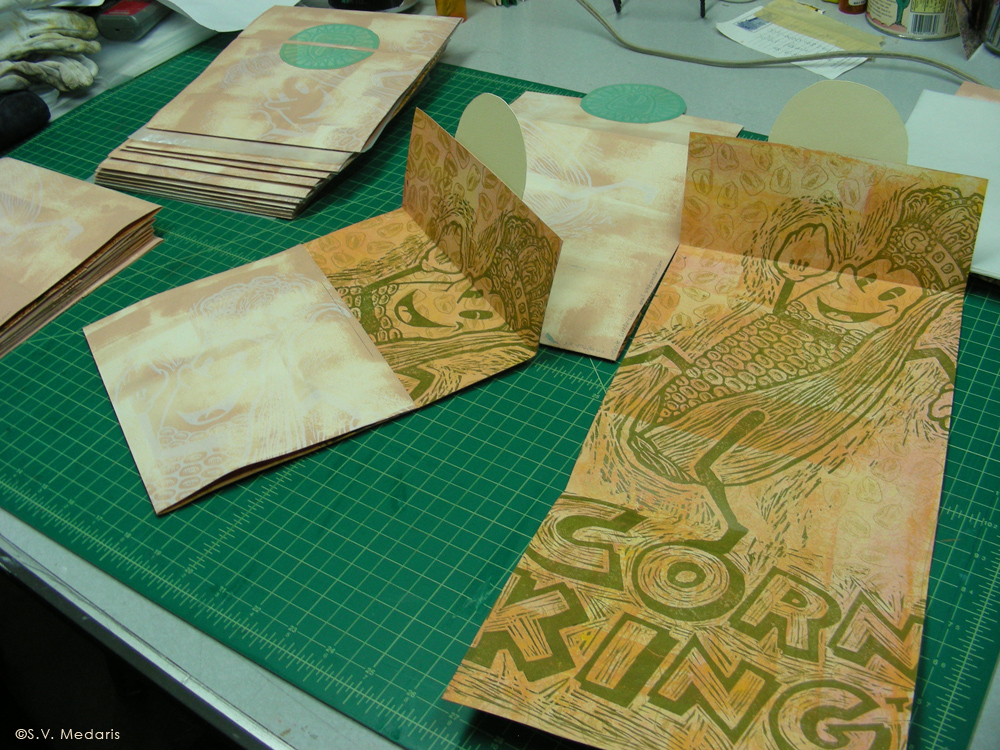 Corn circle print, Corn King print, assembly of 20 edtion folio by S.V. Medaris