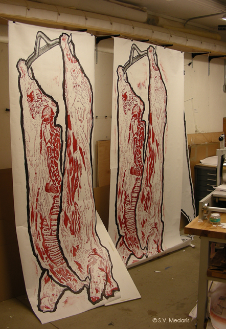 8ft prints of hog carcass