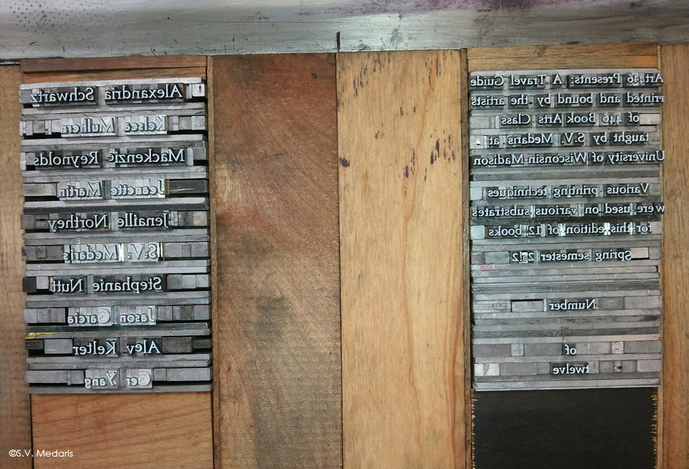 lead type cased in on letterpress