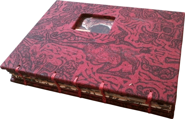 printed, cloth-covered artists's book