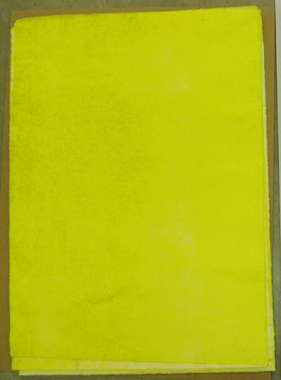 yellow printed on paper