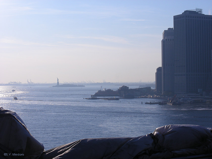Statue of Liberty from Brooklyn Bridge