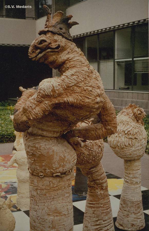 The Lizard King-6ft. tall clay figure