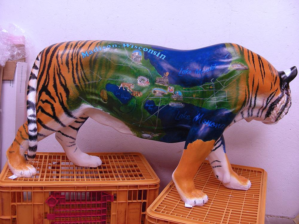 fiberglass tiger, map of madison, s.v. medaris